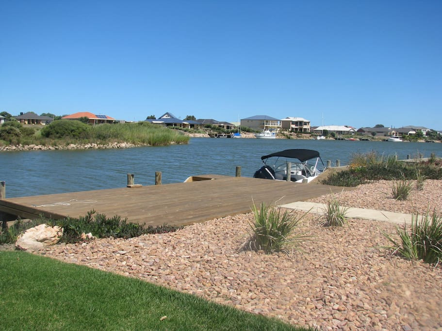 Private large jetty for fishing, boating, jetski or canoe
