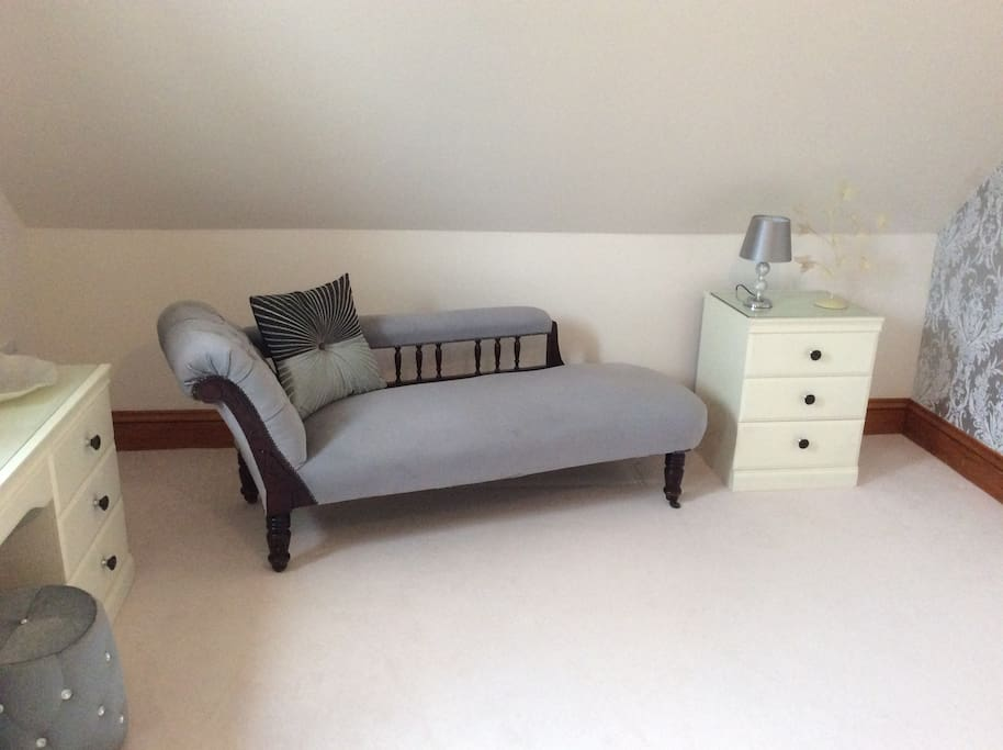 Master bedroom relaxing area plus large walk in wardrobe