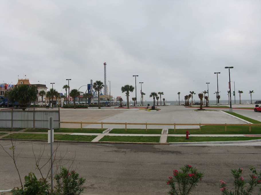 The view of the beach and Pleasure Pier from the house