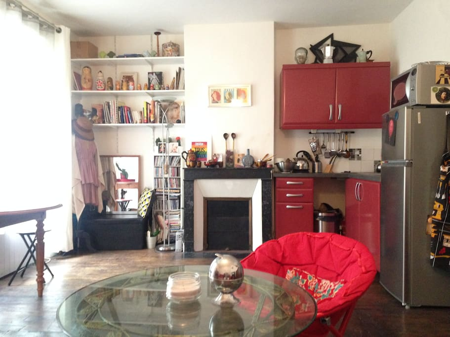Vue du salon- la moitié salle à manger/cuisine
