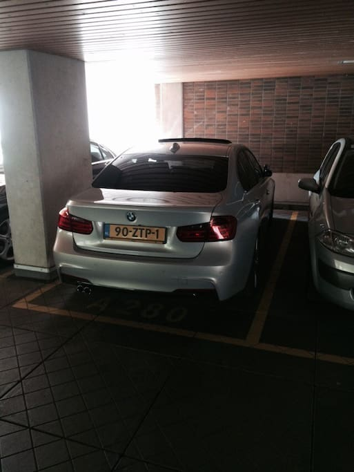 private parking spot in a safe garage. the car is not included.