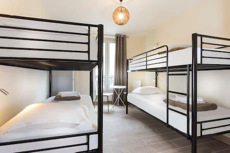 J) 1 BED in a FEMALE DORM in PARIS CENTER - Slaapzaal