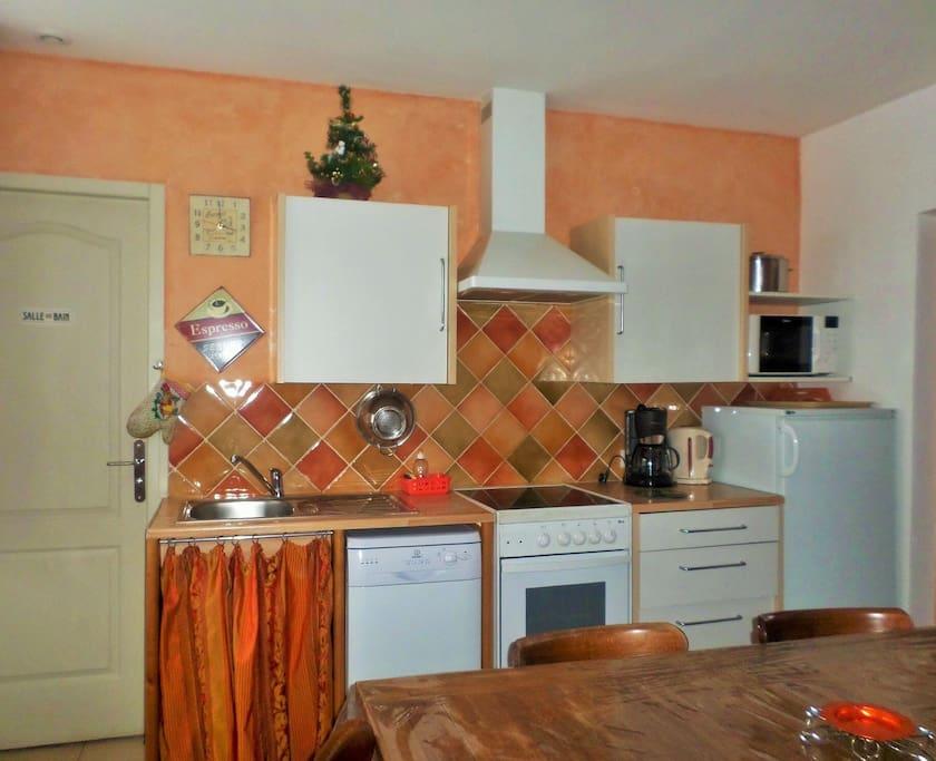 La cuisine moderne et fonctionnelle pour 8 personnes