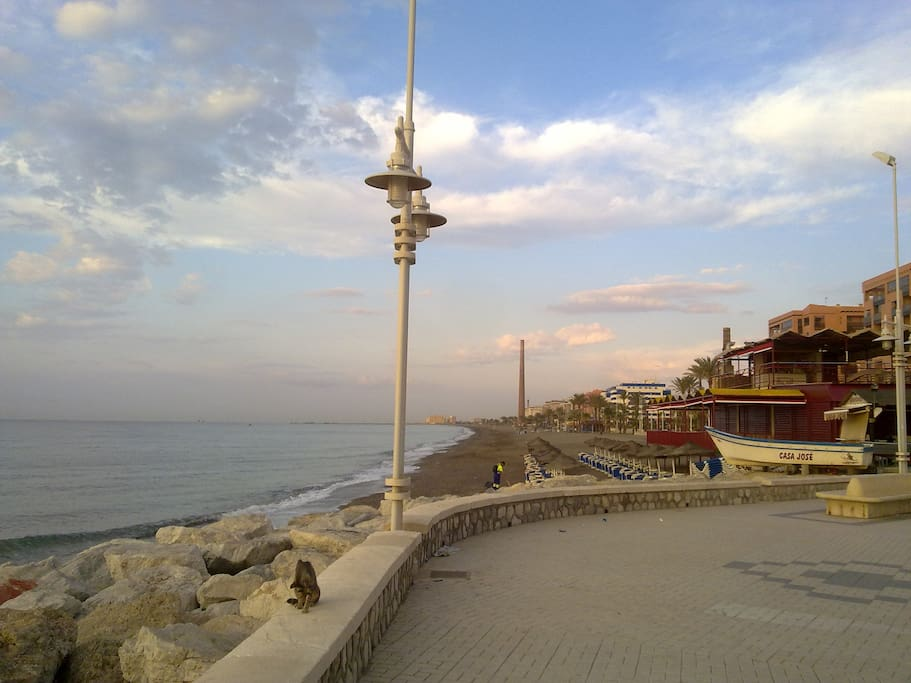 The promenade is less than 10minutes walk.