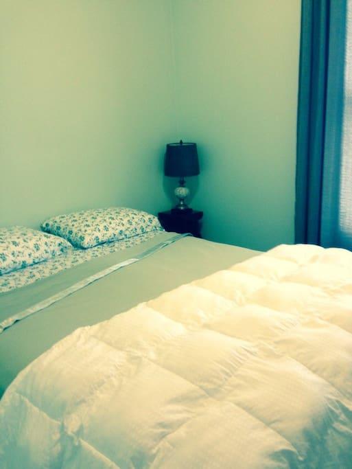 Bedroom 1 - New - Queen-size bed.