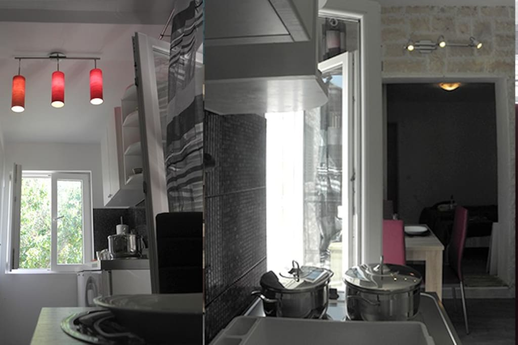 Kitchen view from two different angles
