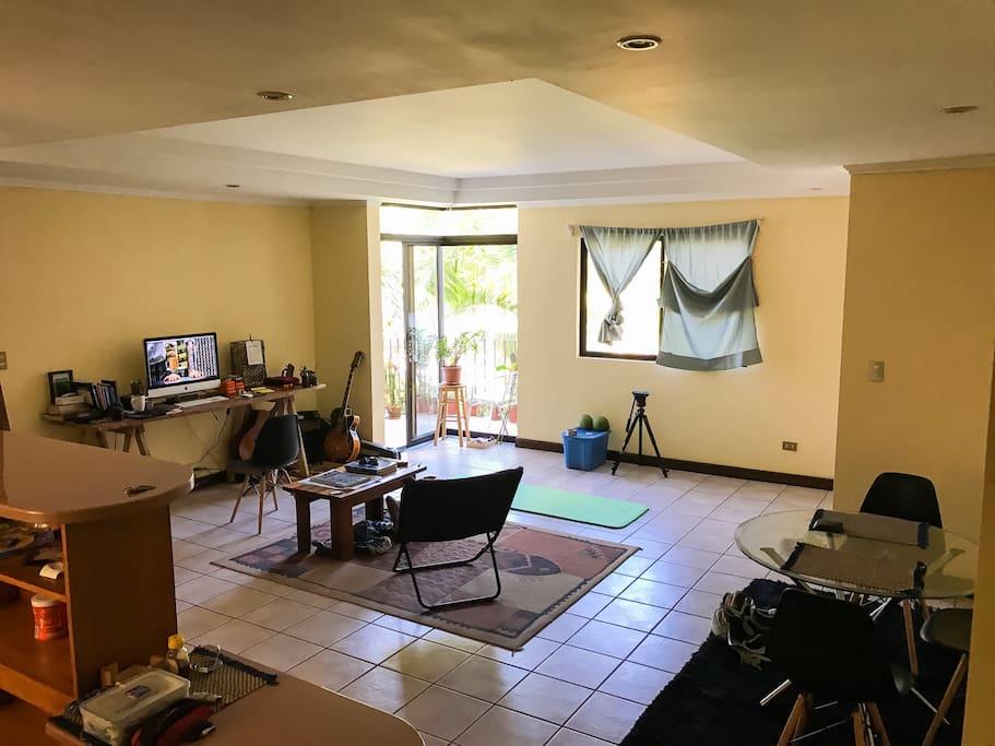 Living room/workspace.