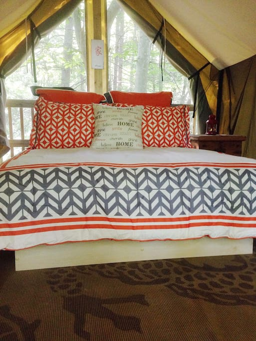 Sleep in comfort while still enjoying the outdoors!