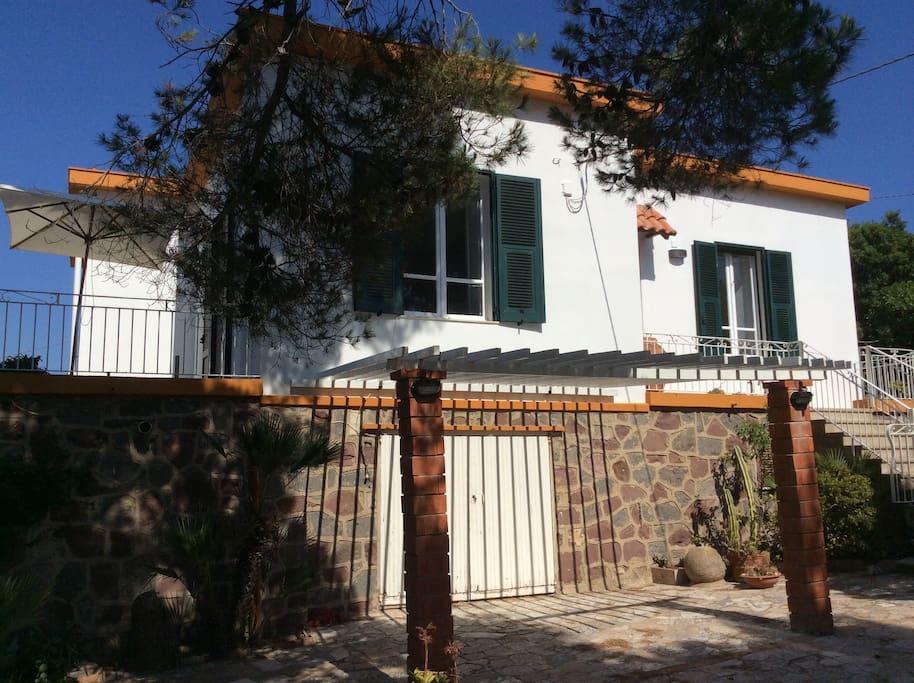 villa, garden and terraces