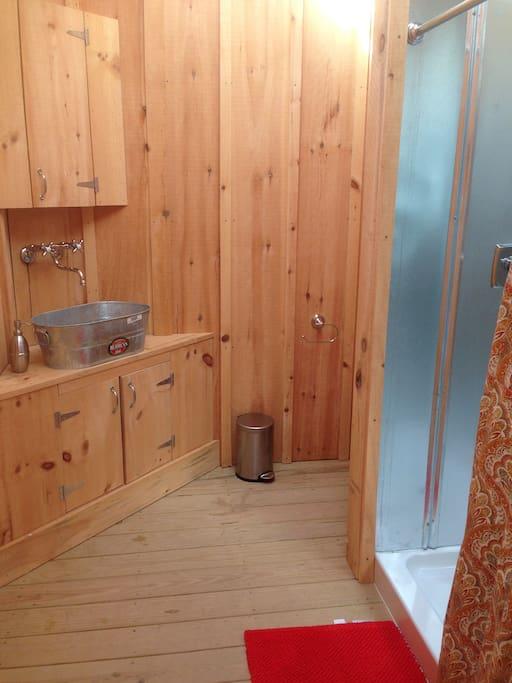 Inside of bath house