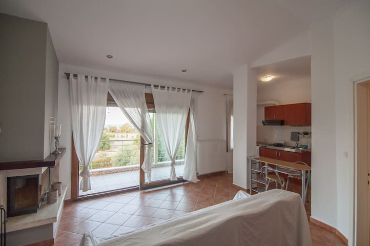 Olympus penthouse next to the beach,free parking - Litochoro - Appartement