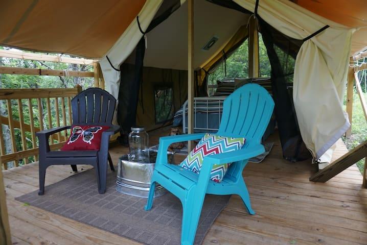 Tent Cabin #1 Near Asheville, NC