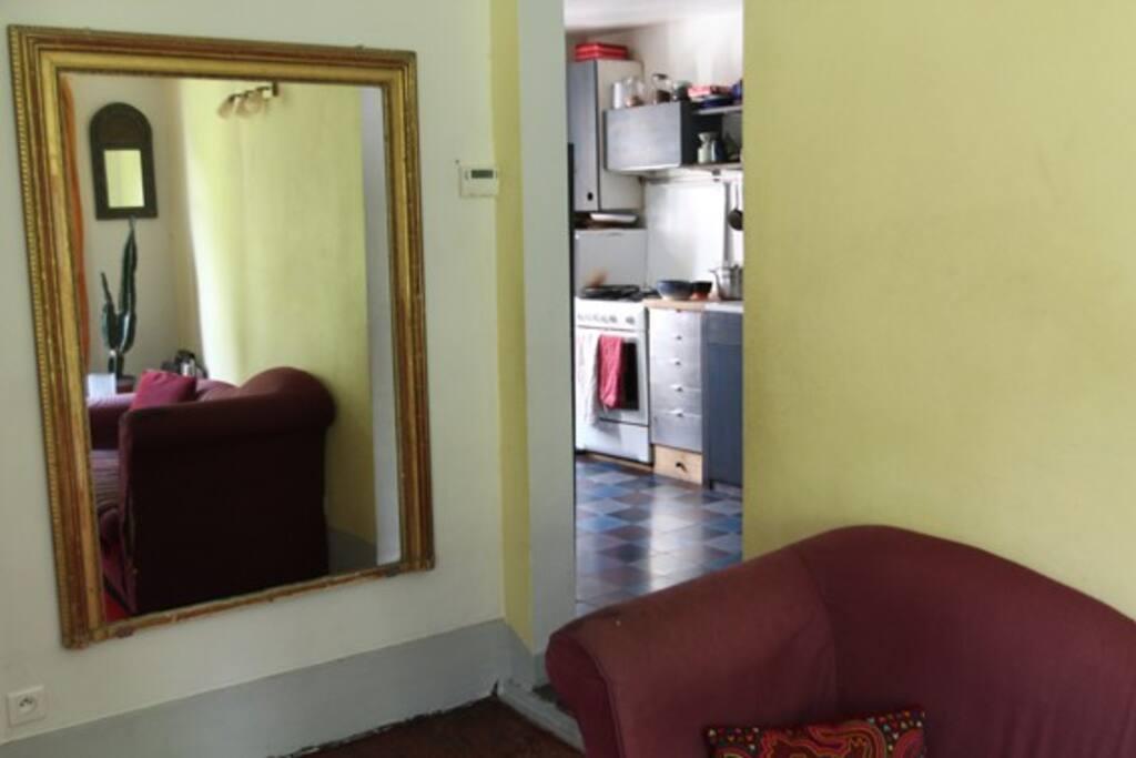 Salon côté cuisine