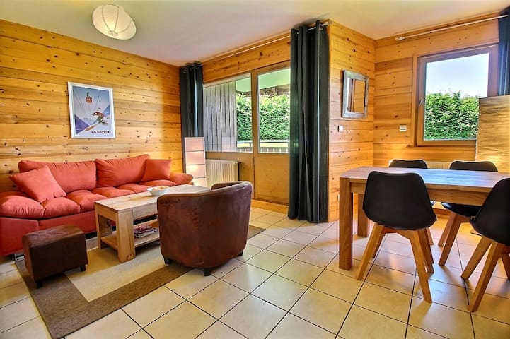 Apartment for 4 in Les Carroz, Private garage,Wifi - Arâches-la-Frasse - Lägenhet