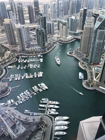 And view of the marina from the other side. My building is the large one on the right of this photo with the sloping top.