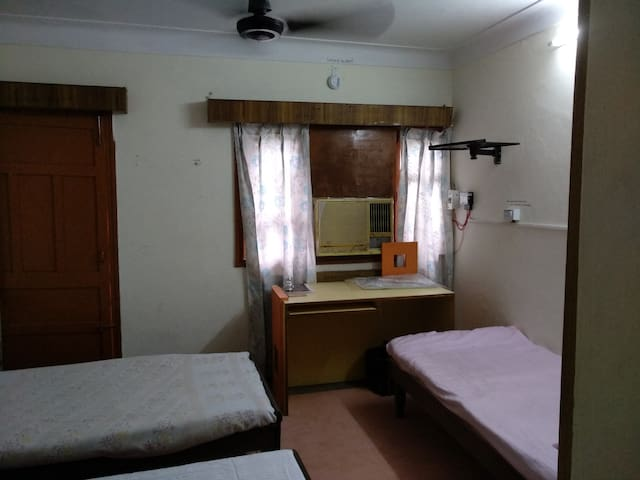 Bed in Air Con. Deluxe Shared Room/Bath- Male Only