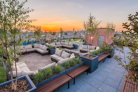 Sunny & Modern + Roof Deck & Gym! - Brooklyn - Appartement