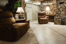 Comfortable seating in comman area living room.