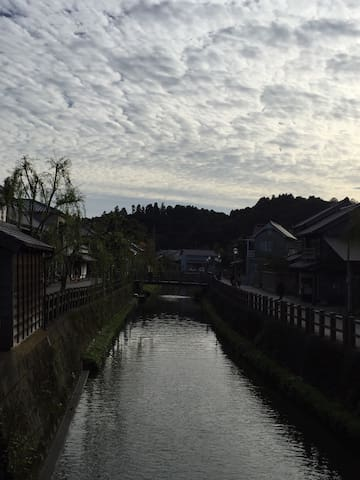 Sawara aesthetic area. It is 40 minutes by a train from Narita Station