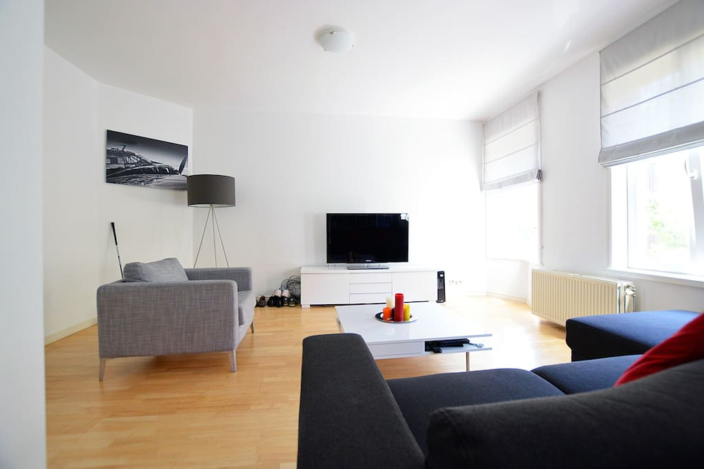 Take on the  many seats when you came back to the apartment after you saw the beauty of Amsterdam