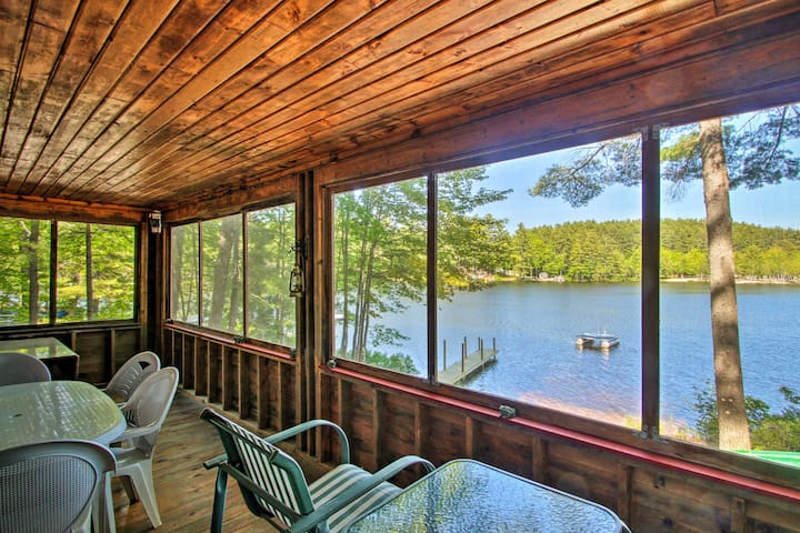 NEW! Waterfront Belleau Lake Summer Cabin w/Dock!