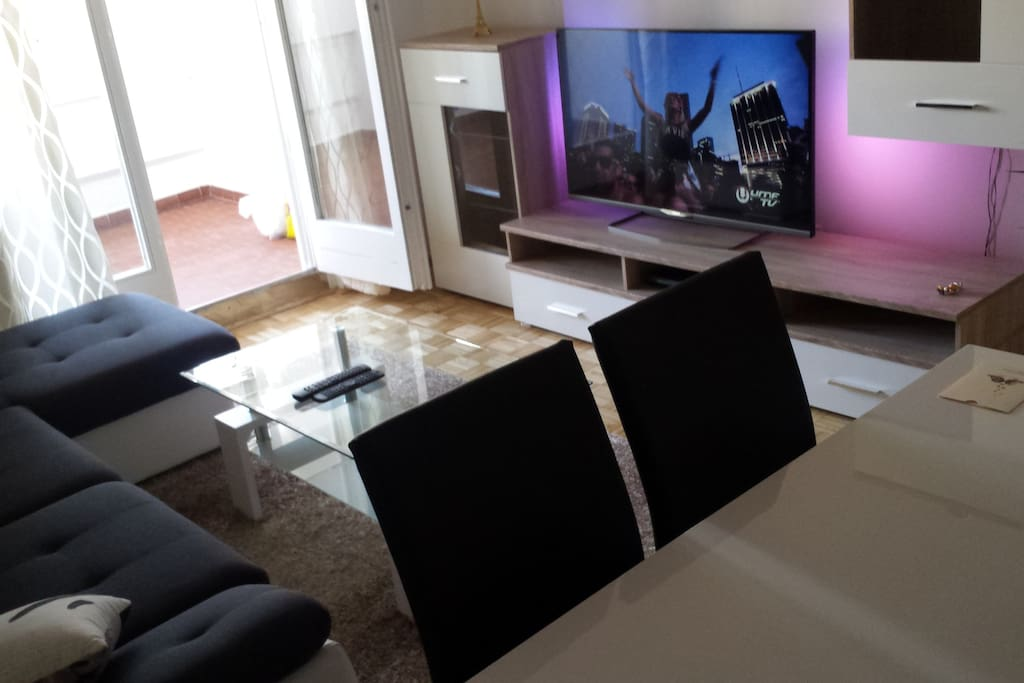 LCD Smart Tv and Balcony