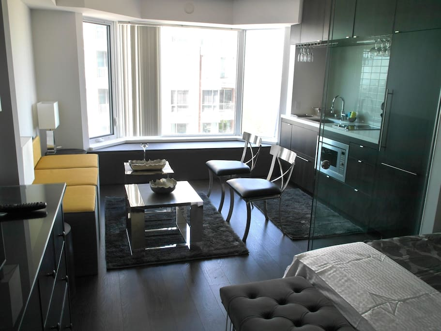 Walk in the door to a luxurious condo with all the amenities