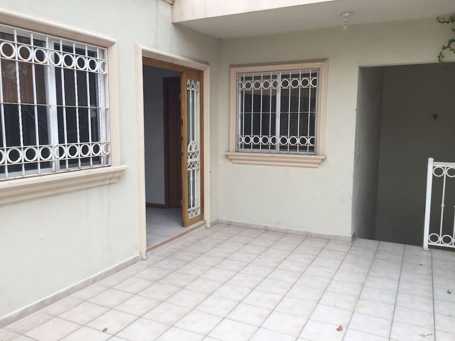Terraza en segundo piso