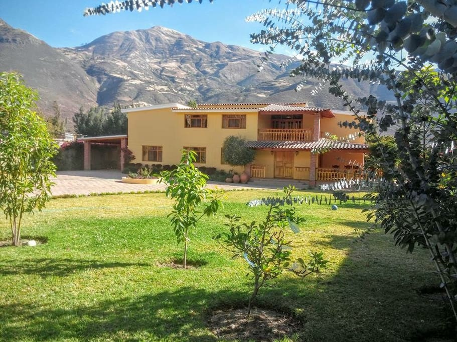 Beautiful enclosed property fresh fruit ready to pick from the trees.