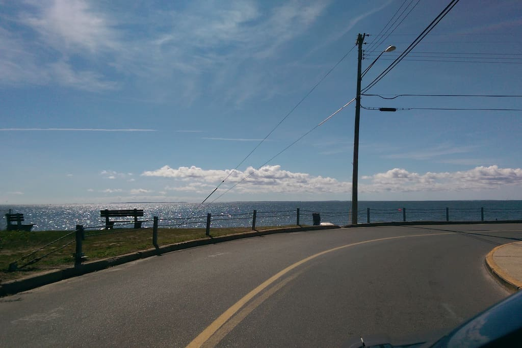 Here is the turn onto the street!  Hello, Long Island Sound!