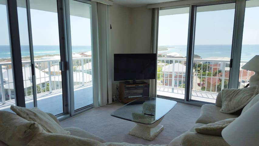 View from Condo Living Area (Gulf and Bay)