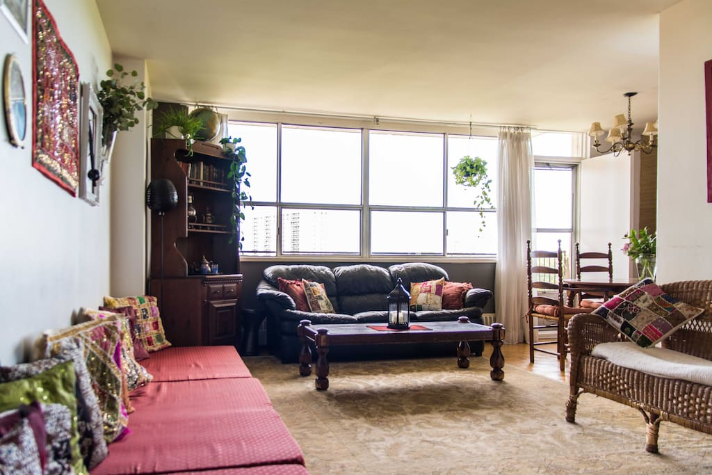 Living room - lots of space to sit and relax.