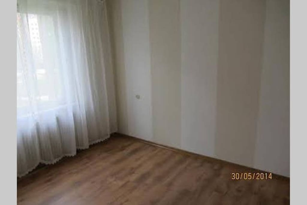 Room has lot of light, single bed and double sofa bed is available.