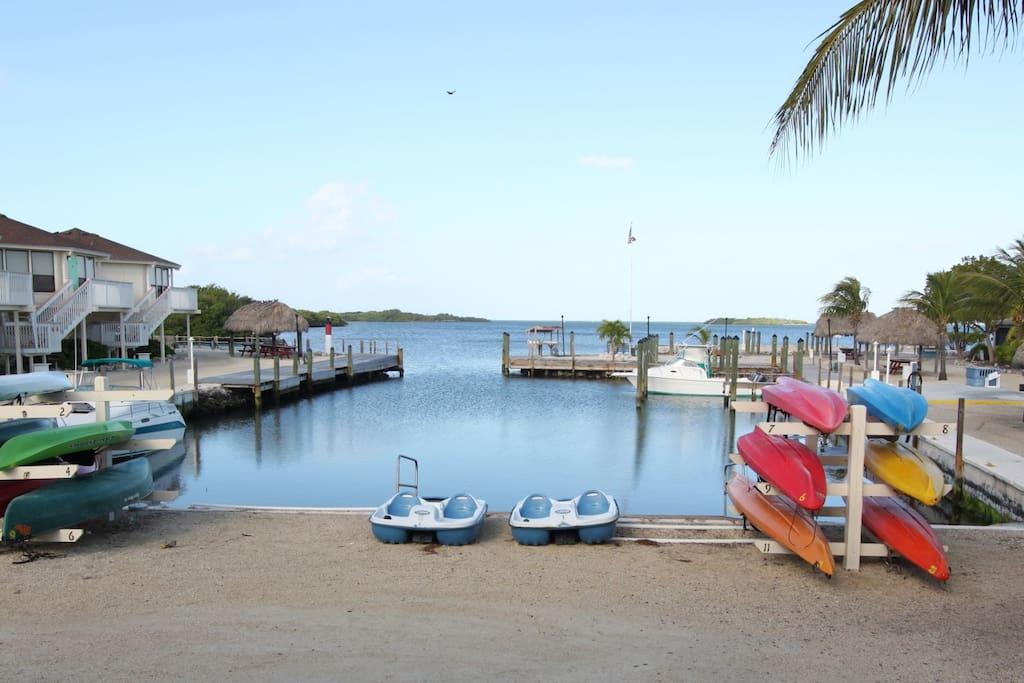 Kayaks, Paddleboards and bikes provided