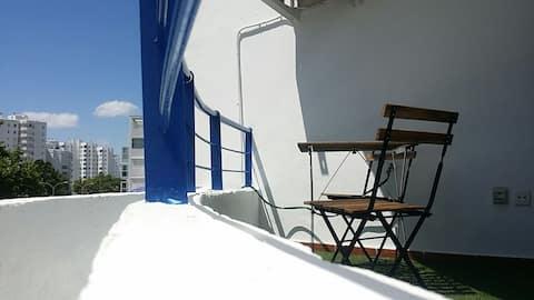 Valdelgrana playa Apartamento soleado, wifi.