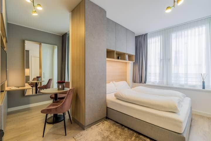 Luxury studio apartment with concierge and spa