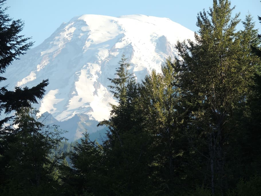 View of Mt. Rainer from living room