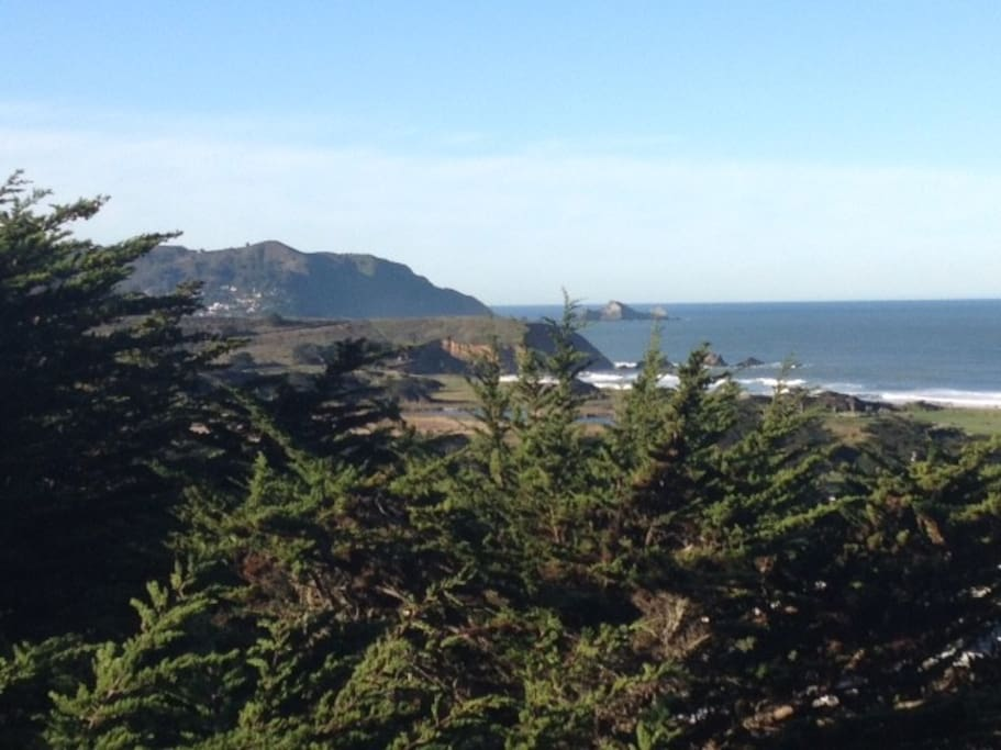 Deck Views of Mori Point. Great place to  walk or hike.