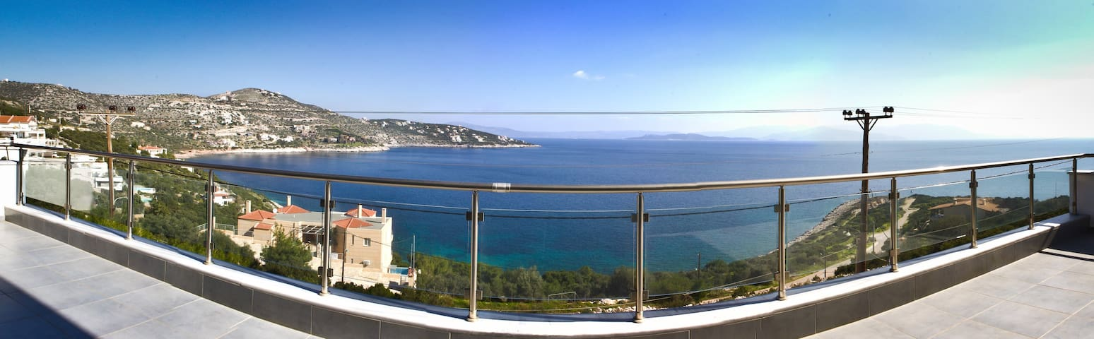 Lux Villa Amazing Deep Blue SeaView - Schinias - Huis