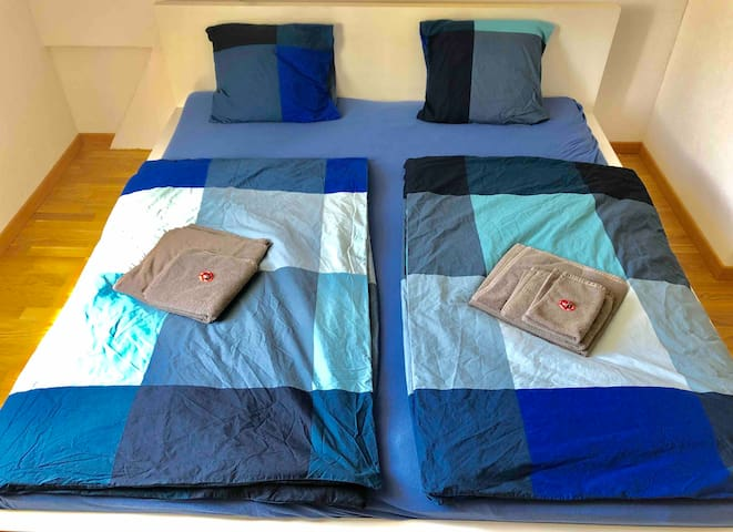 Comfortable big bed for 1-3 people -  1.80m x 2.00m