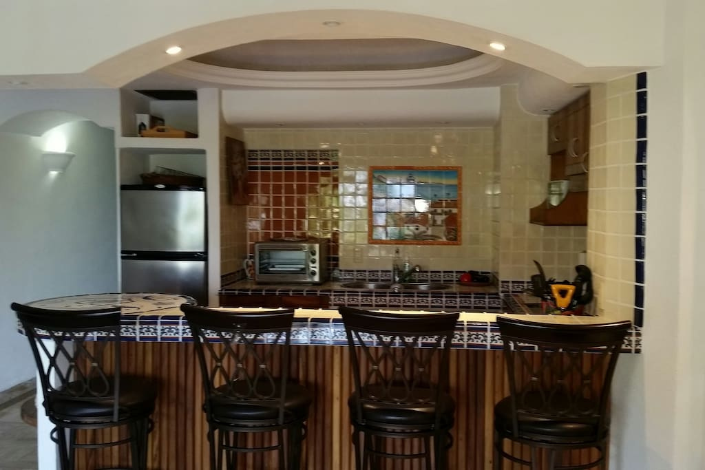 Updated Kitchen with Bar Seating