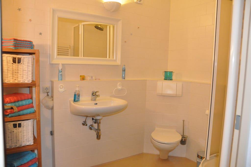 Das Geräumige Badezimmer mit Dusche