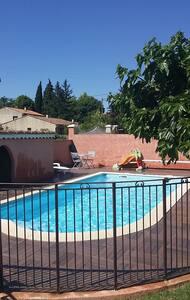 T2 indépendant dans villa avec pisc - Lamanon
