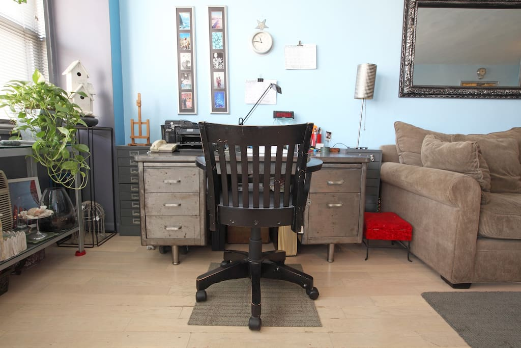 1940's Metal Desk and Chair