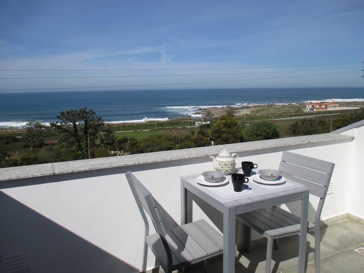 Belle villa avec vue sur l'océan