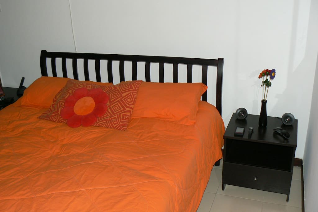 Cuarto y cama donde se alojara / Room and bed where he will stay