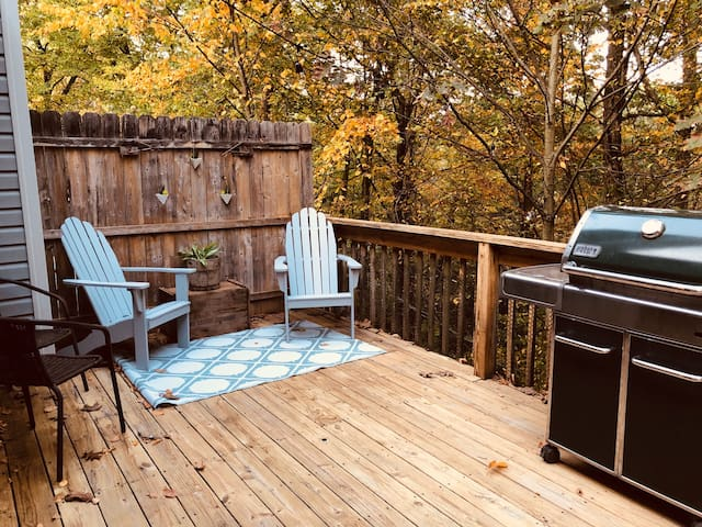Back seating area with full size propane grill