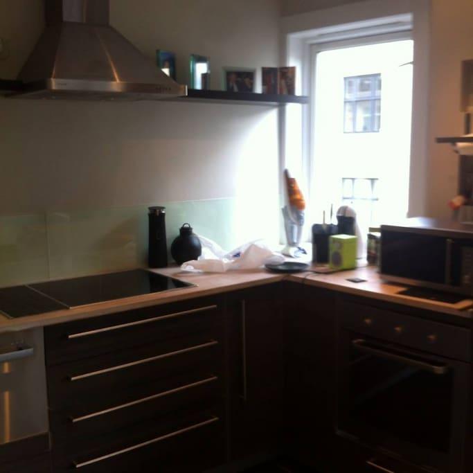 Open kitchen in living room