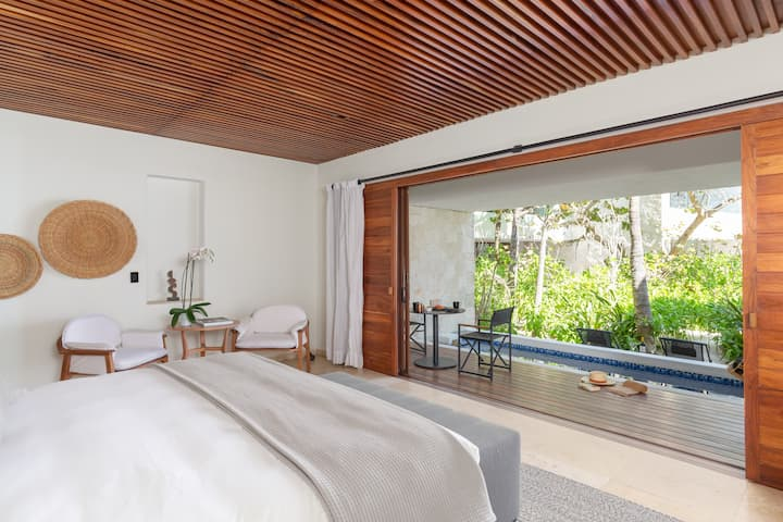 Jungle View Suite with private plunge pool at Tago