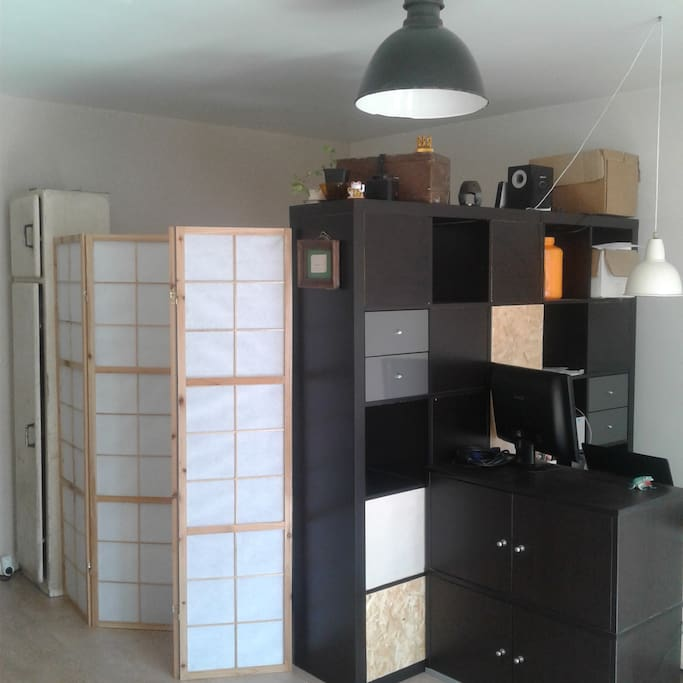 Coin chambre (grand lit 2 places)